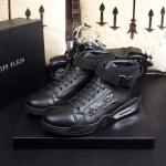 man philipp plein chaussures france all leather black